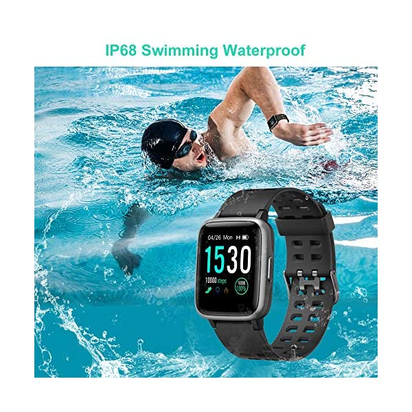Smart Watch for Android Phones Compatible iPhone Apple Samsung IP68 Swimming Waterproof 2019 Version, Willful Smartwatch Fitness Tracker Fitness Watch...