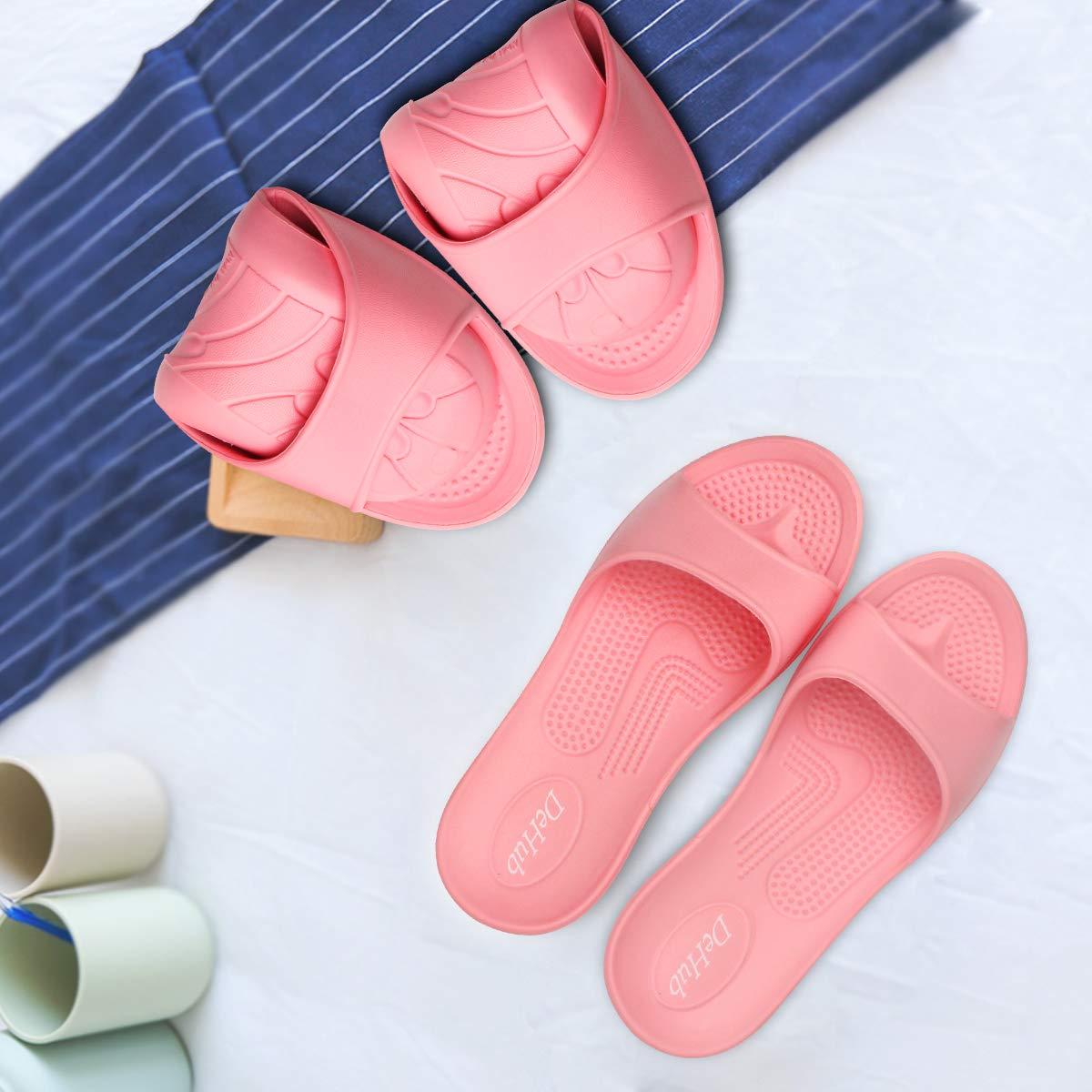 EVA Shower Slippers for Women,Indoor/&Outdoor Summer Non Slip Bathroom Sandal Slippers,Lightweight Household Slipper for Shower,Beach,Spa,Gym Pool.
