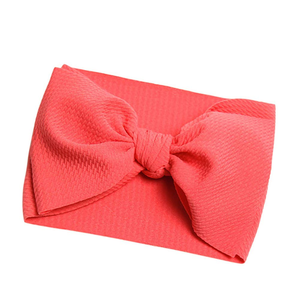 ZHOUBA Baby Headbands Turban Knotted Girls Hairbands for Newborn,Toddler and Childrens Red