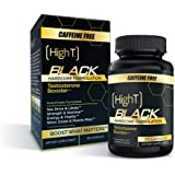 High T Black Caffeine Free- Total Testosterone Booster - Naturally Enhances Stamina, Endurance, Strength and Energy. Builds M