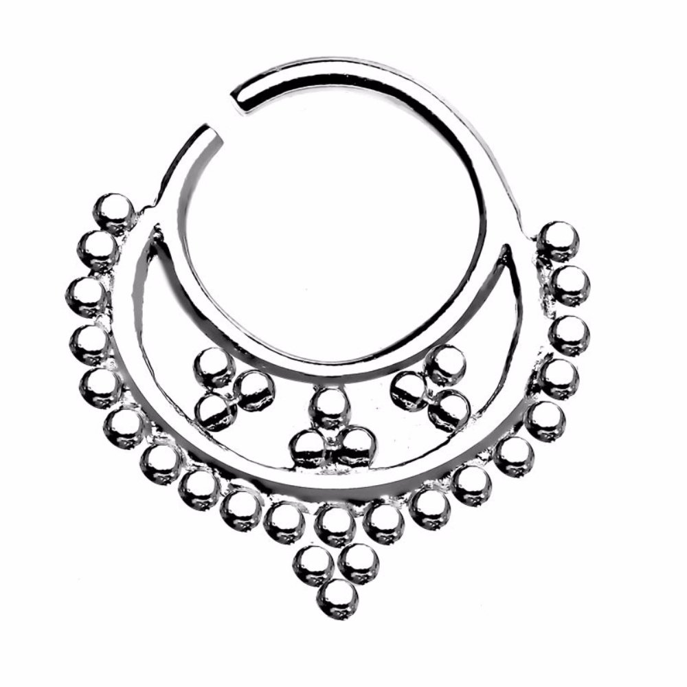 Freedom Fashion Septum Ring Bubble Clustered Sold By Piece 316L Surgical Steel