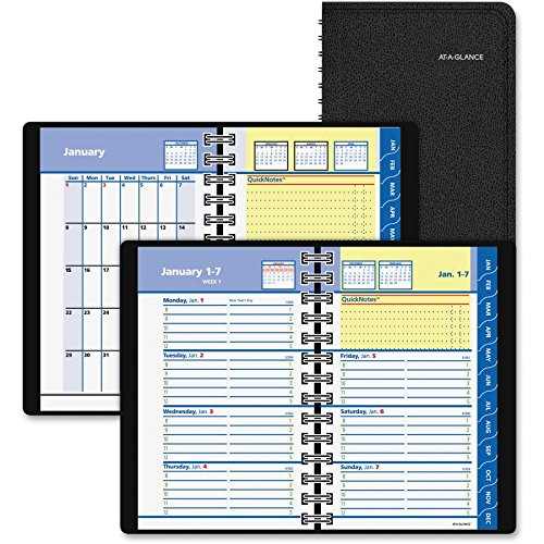 At-A-Glance QuickNotes Self-Management System Planner - Weekly, Monthly - 3.75