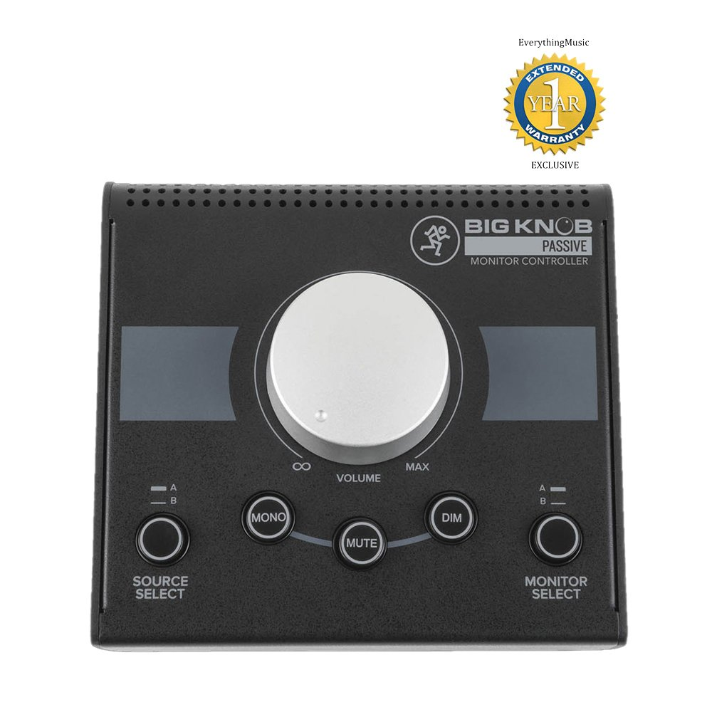Mackie Big Knob Passive Studio Monitor Controller with 1 Year Free Extended Warranty Loud Technologies Inc.