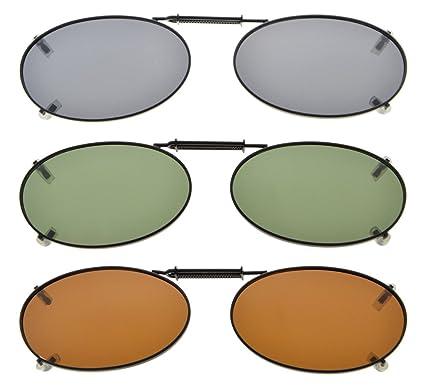 Eyekepper Metallrahmen Felge polarisierte Linse Clip auf Sonnenbrille 43x30MM Braun Linse x5m5lvG