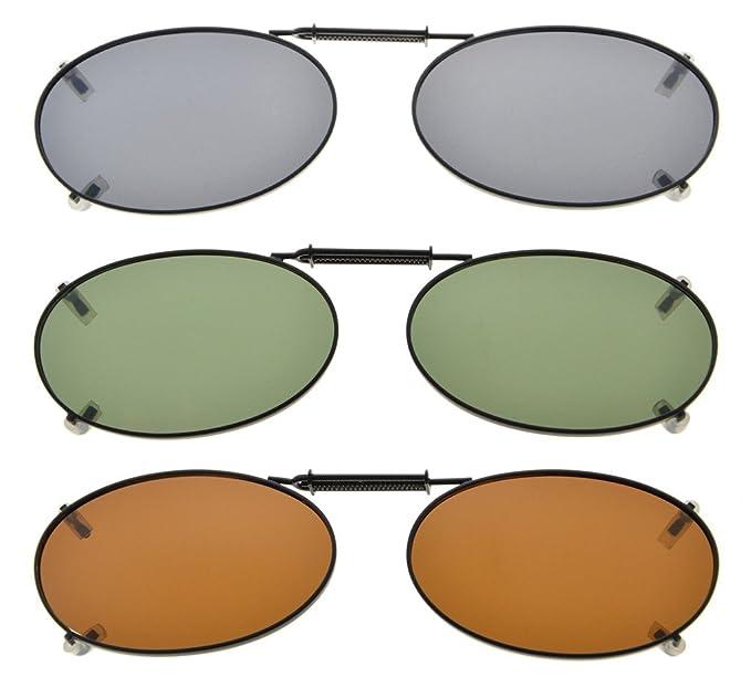 53b2c307e6aaa Eyekepper Gris Marrón G15 lente 3-Pack clip-en gafas de sol polarizadas  43x30MM  Amazon.es  Ropa y accesorios