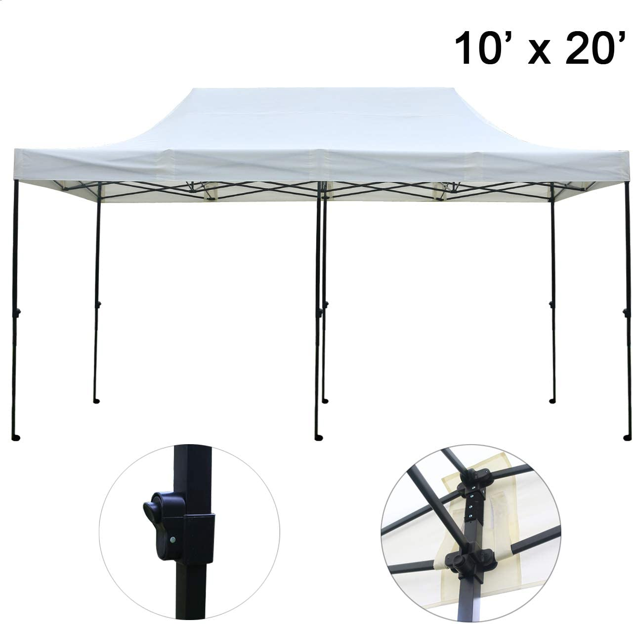 Sunnyglade 10 x20 Pop-up Canopy Tent Commercial Instant Tents Market Stall Portable Shade Instant Folding Canopy