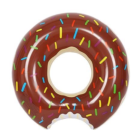 Inflable Flotador de Piscina NuoYo Chocolate Flotador Donut 70CM para el Niño/Adulto 100%