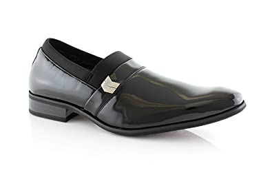 Mens black delli aldo loafer dress casual shoes styled in italy