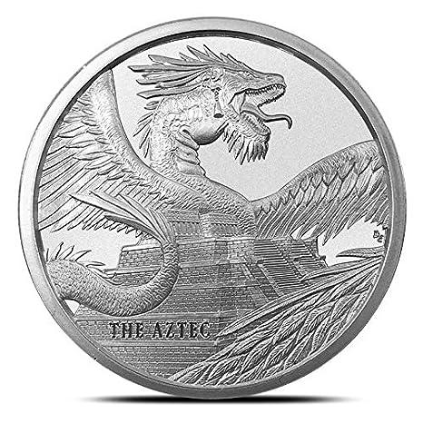 """/""""AZTEC DRAGON/""""   design   1 oz Copper Round Coin  #1   NEW  DRAGON SERIES"""