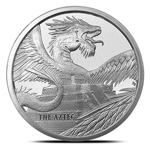 The Aztec, World of Dragons Series 1 oz.999 Silver Quetzalcoatl Rattle Snake (Rattle God)