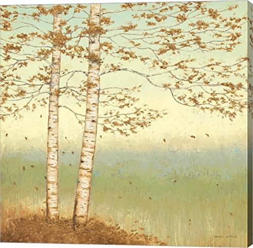 Golden Birch I with Blue Sky by James Wiens Canvas Art Wall