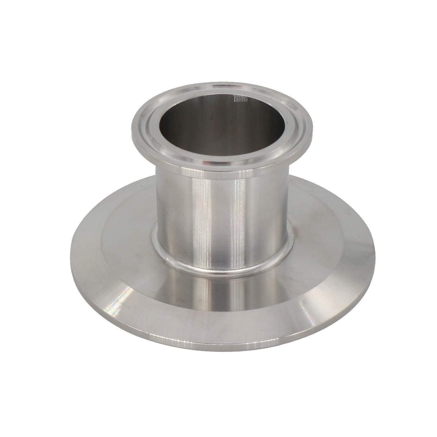 Short Tri- Clamp Reducer 1.5'' X 3'' Tri Clamp End Cap Reducer SS304 Tri Clover Flat Reducer by CRBrewBeer