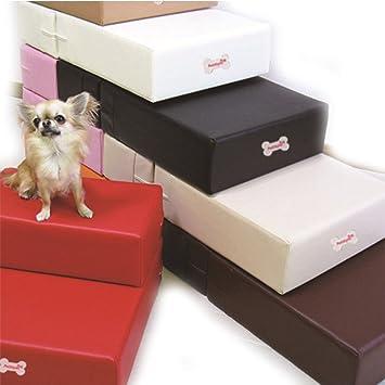 Escalera de piel sintética para mascotas, perros, gatos, escaleras, para perros pequeños