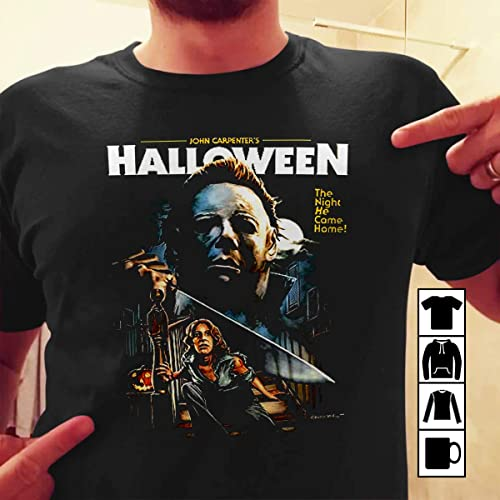 4632c826 Amazon.com: New HALLOWEEN Movie Poster Michael Myers Men's T-Shirt ...