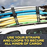 AUGO Extra Strong Ratchet Straps & Soft Loops