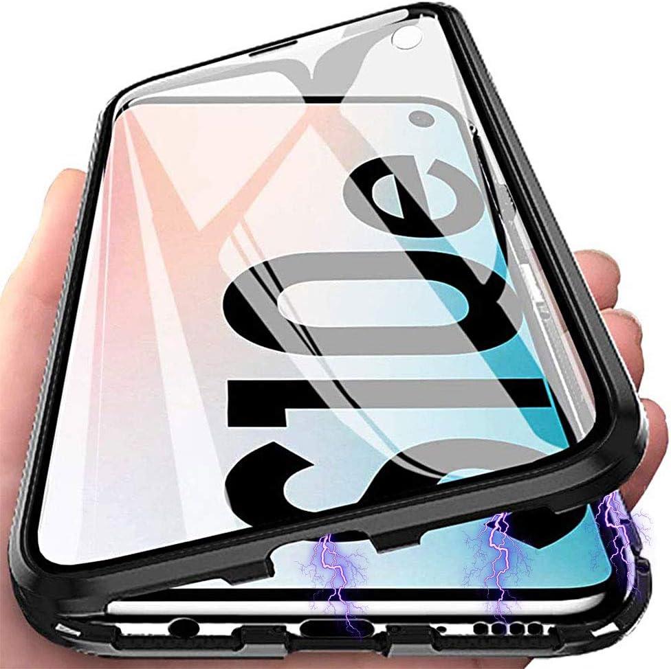 Funda Galaxy S10e, Anfire Adsorción Magnética Carcasa, 360 Grados Delantera y Trasera de Transparente Vidrio Templado Case Metal Bumper Cubierta Cover para Samsung Galaxy S10e, Negro: Amazon.es: Electrónica