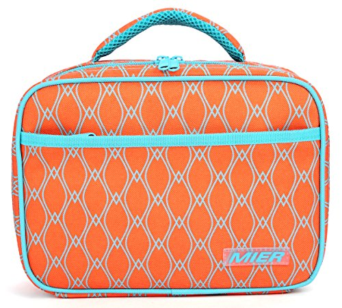 MIER Kids Lunch Box, Fit in Backpack, - Bag Velcro Lid Lunch