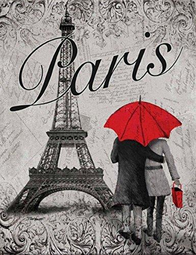 Torre Eiffel de París Wallsthatspeak de moda paraguas rojo francés France Póster 11 x cm 35