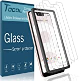 TOCOL [3Pack] for Google Pixel 3 XL Screen Protector Tempered Glass HD Clarity Touch Accurate [9H Hardness] Easy Installation Tray