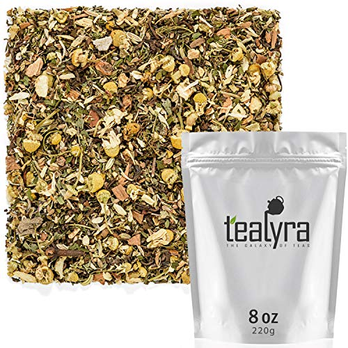 - Tealyra - Rest and Digest - Calming Chamomile - Fennel - Anise - Peppermint - Herbal Tea Loose Leaf Tea - Relaxing and Digestive Tea - Caffeine-Free - All Natural - 220g (8-ounce)