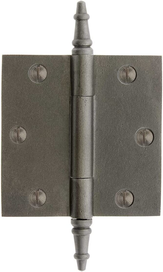 House of Antique Hardware R-04DE-220-AI-ST Cast Iron 3 1//2 Door Hinge with Steeple Tips