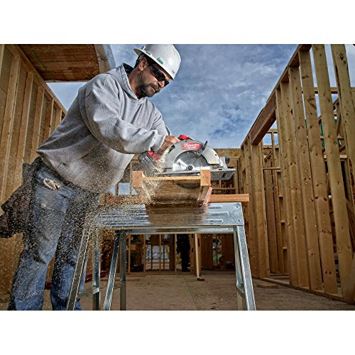 Milwaukee M18 FUEL 18-Volt Lithium Ion Brushless Cordless 7 1/4 in. Circular Saw with M18 18-Volt 9.0Ah Starter Kit   Modern Hardware Power Tools for Your Carpentry Workshop or Machine Shop by Milwaukee (Image #5)