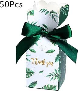 Bolsa de Regalo Caja de Regalo de Boda para la Fiesta de cumplea/ños LDA Get Fresh 50 Unidades de Papel Cajas de Dulces decoraci/ón de la Boda Suministros de Navidad