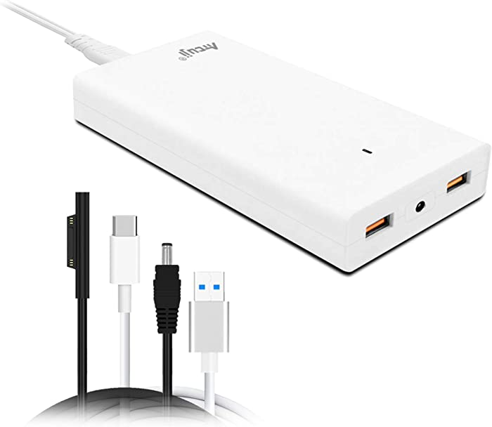 Atcuji 14SA Slim Adapter with 140W Power Delivery for Microsoft 102W Surface Book 2 Laptop Charger Surface Pro X 7 6 5 4 3 2 Power Supply iPhone iPad Quick Charge 3.0 Samsung Galaxy Google Pixel More