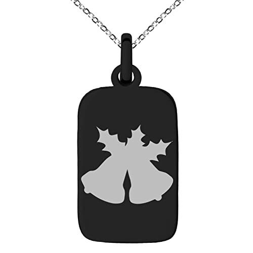 Christmas Holly Silhouette.Amazon Com Tioneer Black Stainless Steel Christmas Bells