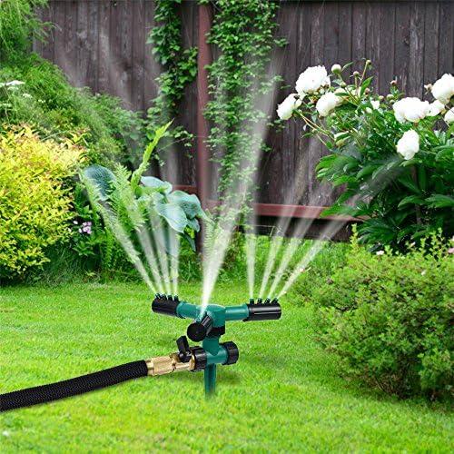 TuHao Aspersor de Tres Tenedores, rociador de riego automático para jardín y césped al Aire Libre, rotación de 360 °, Accesorios para Equipo de riego automático, Dispositivo de pulverización de Agua: Amazon.es:
