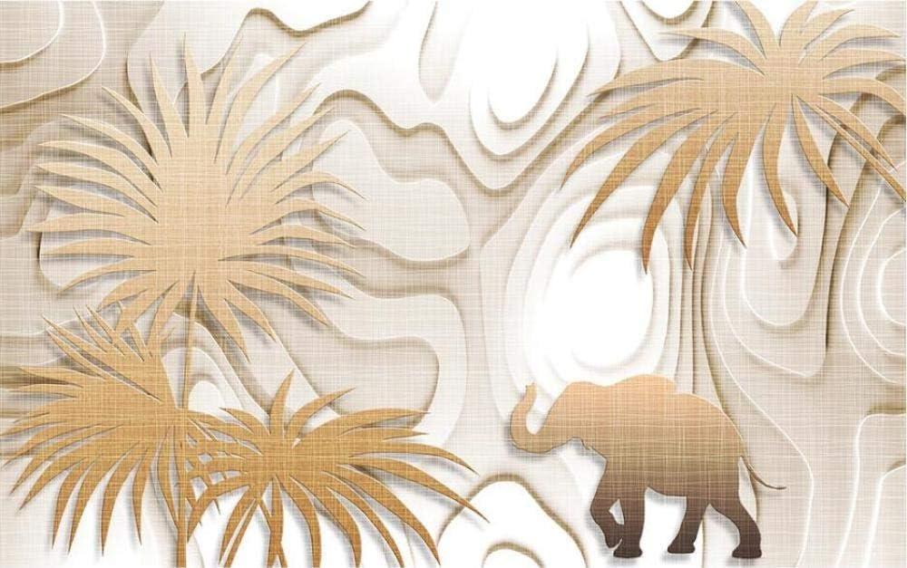 Papier Peint 3D Effet New York For/êt Tropicale G/éom/étrique /Él/éphant Feuilles Moderne Paysages Enfant Chambre Salon Mural Papier-Peint D/écoration Design 250x175CM-XL