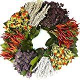 Dried Southwest Herb Wreath - 19 inch Add an over the door gold wreath hanger