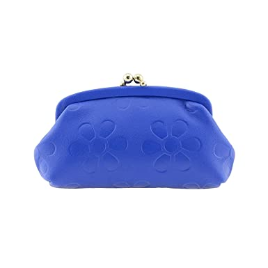 Monedero con Boquilla en Piel Talla: U Color: Azul: Amazon ...