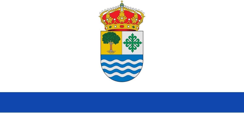 magFlags Bandera Large Municipio de Salorino; en Cáceres, España   Bandera Paisaje   1.35m²   90x150cm: Amazon.es: Jardín