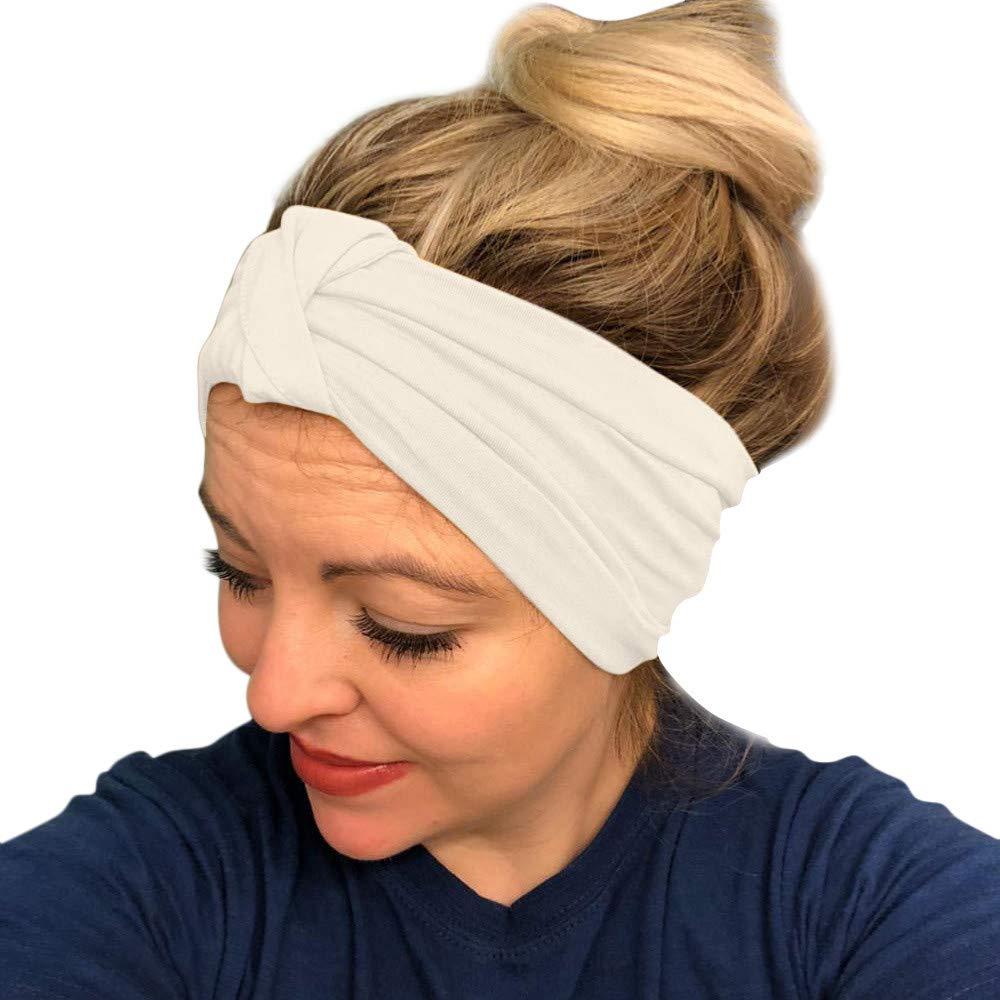 HighlifeS Women Elastic Turban Head Wrap Headband Twisted Hair Band (H)