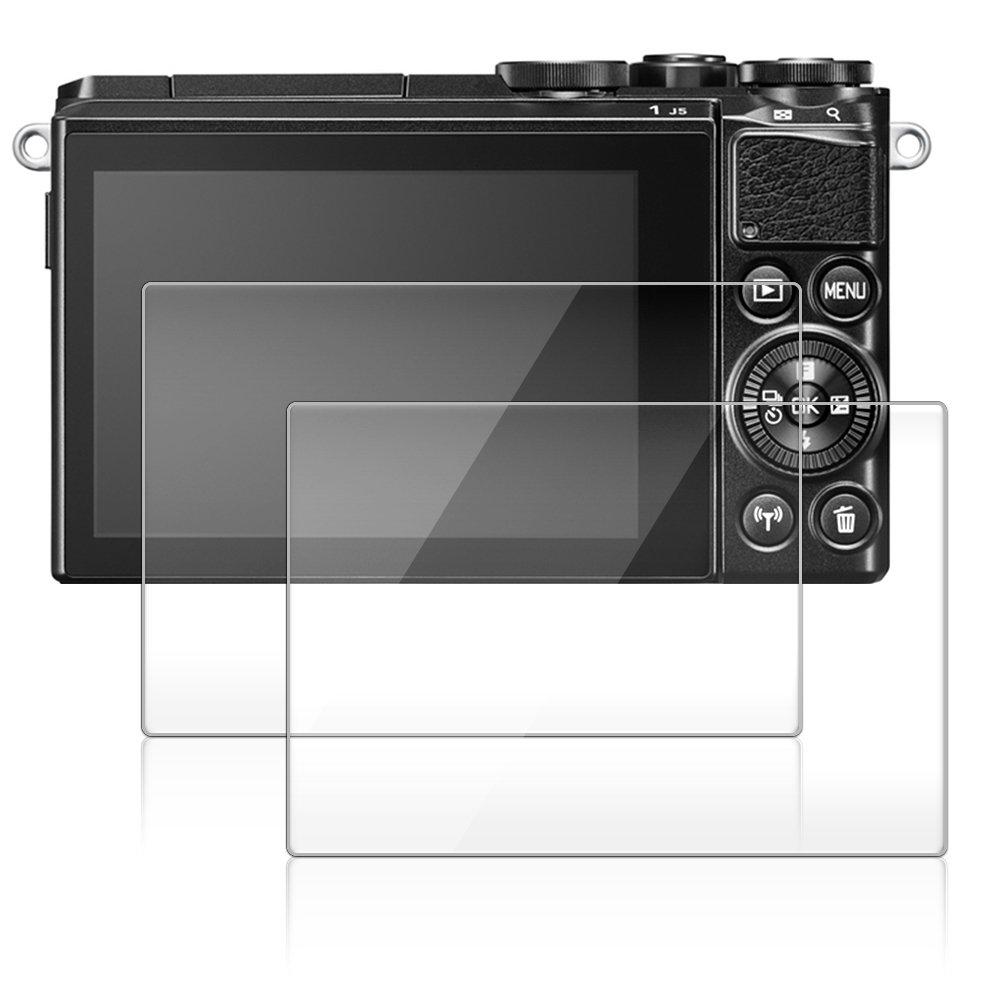 Screen Protector for Nikon 1 J5 / 1 J4 / 1 V3, AFUNTA 2 Pack Camera Anti-scratch Tempered Glass for DSLR Camera AF-j5 cover