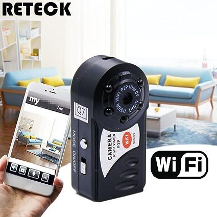 Amazon.com : RETECK Q7 WiFi Wireless Recorder Mini DV DVR Camera