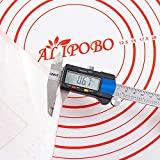 ALIPOBO Extra Thick Silicone Baking Mat for Rolling Dough with Measurements,Non Stick Silicone Pastry Mat