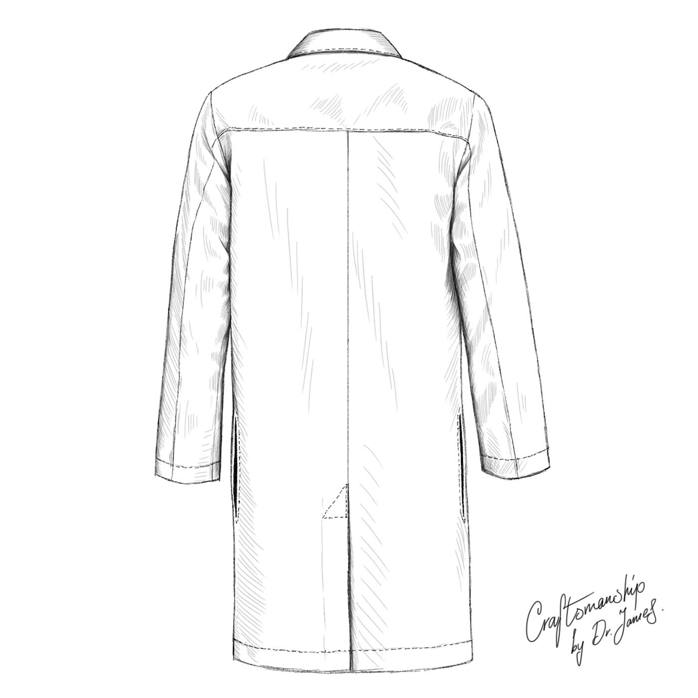 Dr. James Professionally Designed Unisex Lab Coat - 39 Inch Length US-01-2XS by Dr. James (Image #6)