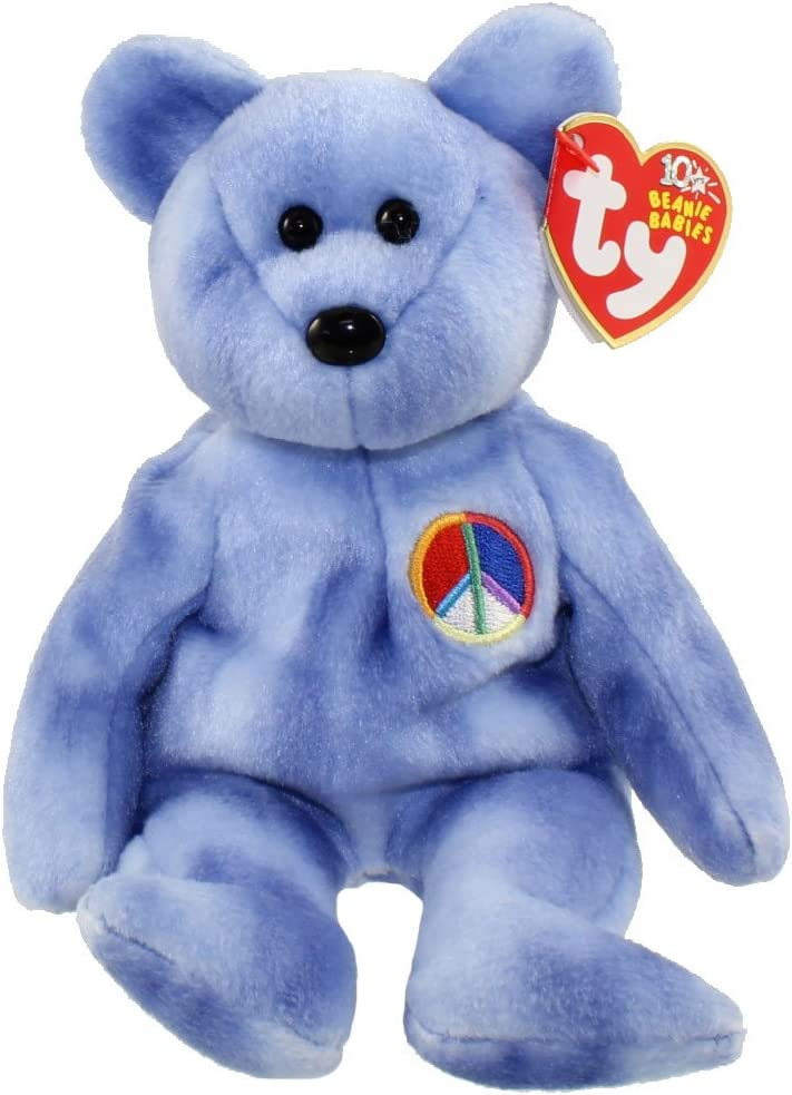 PEACE 2003 the Bear TY Beanie Baby 8.5 inch - MWMTs Blue Version