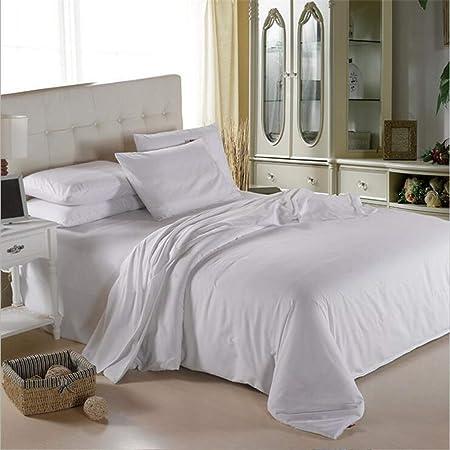 HCBDQQ 4 Juegos de sábanas, sábanas de algodón Natural de Peine Largo, Lijado Natural, Suave y Sedoso, Cuatro Juegos de Juego de Dormir Desnudo de Doble Hechizo de Color sólido: Amazon.es: Hogar