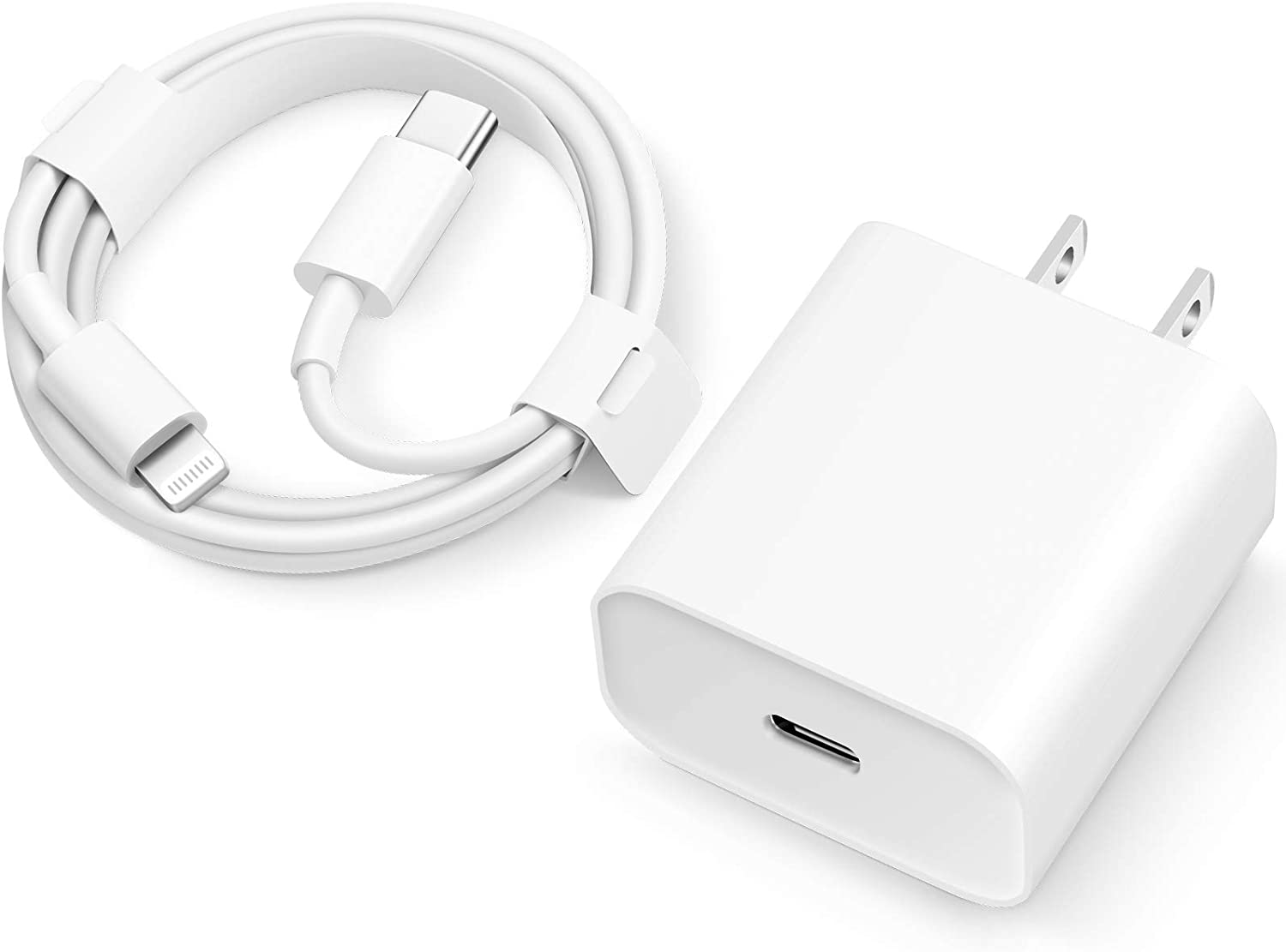 USB C PD Fast Charger for iPhone 12 [MFi Certified] 20W Wall Charger with 6FT USB C to Lightning Cable Compatible with iPhone 12/12 Mini/12 Pro/12 Pro Max/11/11 Pro Max/Xs Max/XR/X
