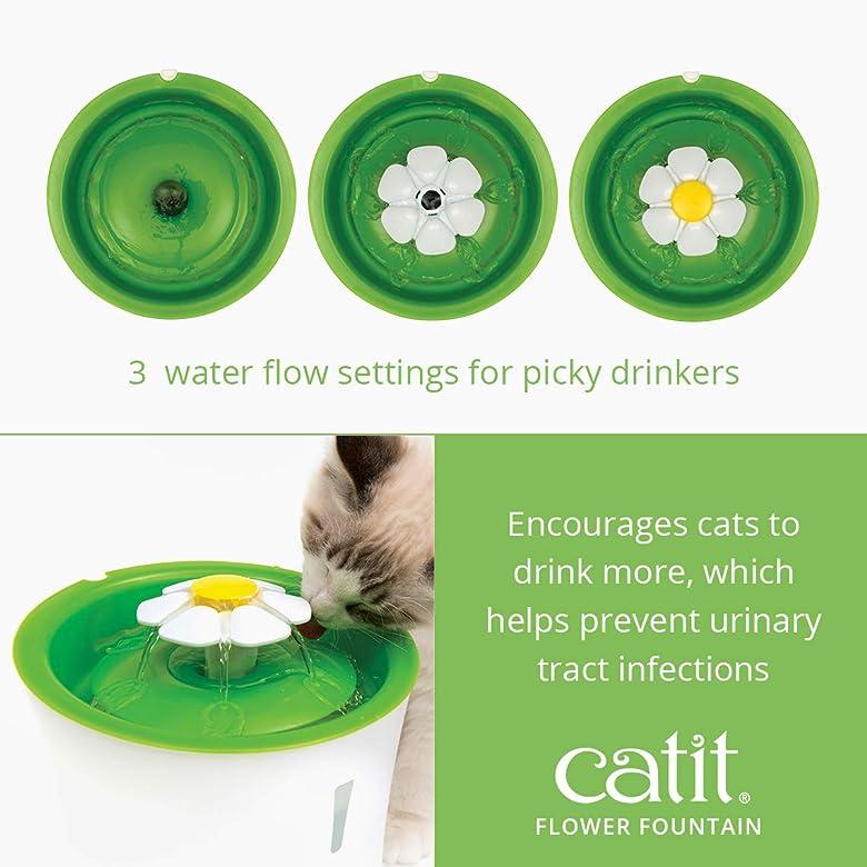 Fontaine à boire avec filtre triple action Cat Flower de Catit