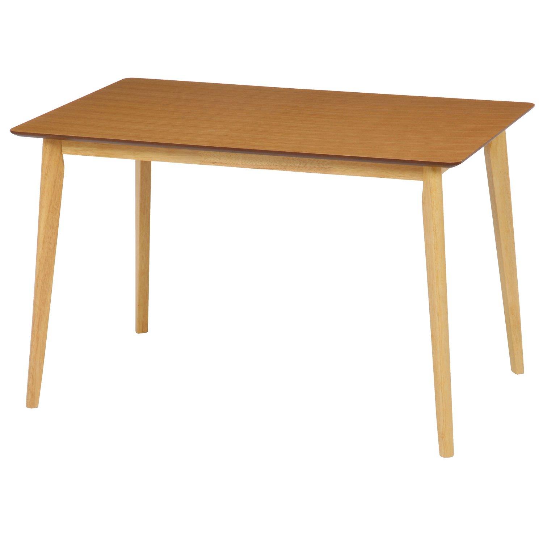 不二貿易 ダイニングテーブル ジャーナル 幅120×奥行75cm ナチュラル 70095 B01NAATHH2ダークブラウン