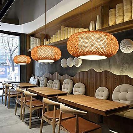 Amazon.com: XNCH - Lámpara de techo de bambú para ...