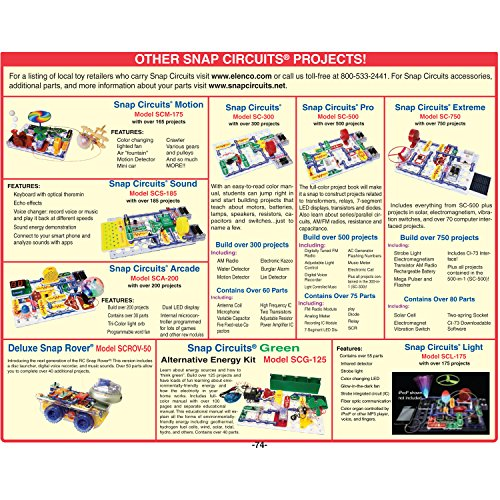 61VDiEMoVGL - Snap Circuits Arcade Electronics Exploration Kit | Over 200 STEM Projects | 4-Color Project Manual | 20+ Build and Play Games  | 35+ Snap Modules | Unlimited Fun