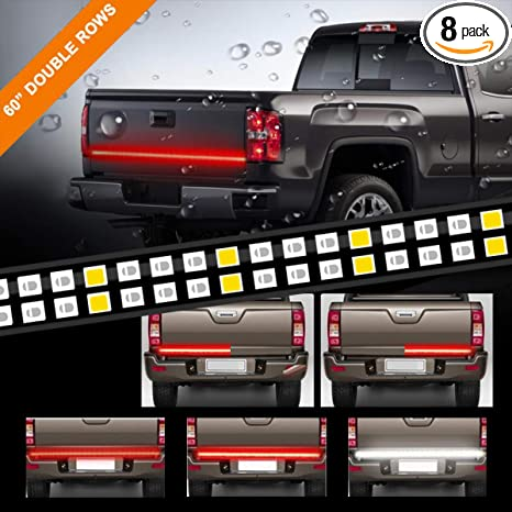 Amazon lpeng 60 double rows led truck tailgate light bar lpeng 60 double rows led truck tailgate light bar strip redwhite reverse aloadofball Image collections