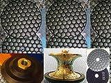 Full Bullnose V40 (40mm) 1-1/2'' Inch Diamond Brazed Router Bit Profiler 4 Inch DRY Polishing Pad 9 Pieces Glaze Buff Granite Marble Concrete Terrazzo Stone Travertine 5/8''-11 Thread