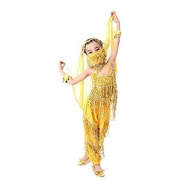 a71941d65 CoastaCloud Yellow Children Yong Girl Costumes Performance Daning ...