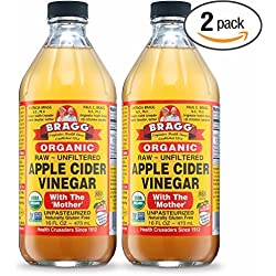 Bragg USDA Organic Raw Apple Cider Vinegar, With The Mother 16 Oz - Pack of 2